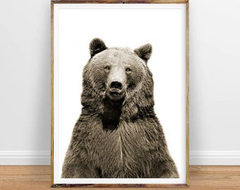 Bear Digital Print, Nursery Wall Art Bear Instant Download, Printable Poster, Instant Digital Download, Printable Art, Digital Art Download