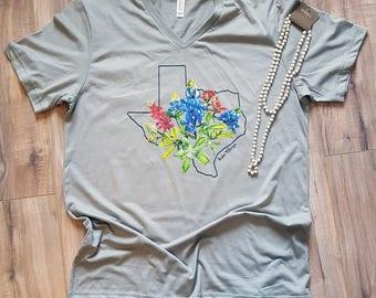Bluebonnet Texas/Graphic Tee/Texan/I Love Texas