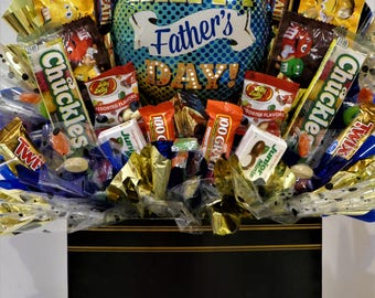Father's Day Gift Basket Candy Bouquet