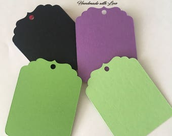Tags / Favor Tags / Candy Bar Tags / Price Tags / Gift tags / Decorative tags / Wedding Tags / Labels / Black tags / Purple tags / Green tag