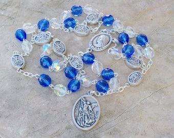 St Michael chaplet, rosario de san miguel, saint michael archangel, st michael medal, crown of st michael, patron of military, prayer beads
