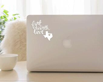 Fort Worth Love Vinyl Sticker