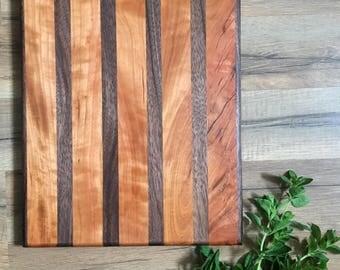 Butcher Block Cutting Board, Wood Cutting Board, Wedding Gift, Unique Cutting Board,