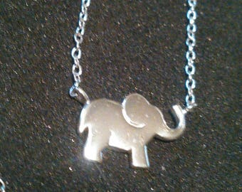 Sterling Silver elephant charm necklace 925