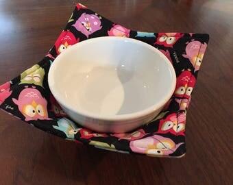 Owl Microwave Bowl Cozy