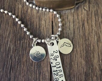 Home Town Coordinates Necklace