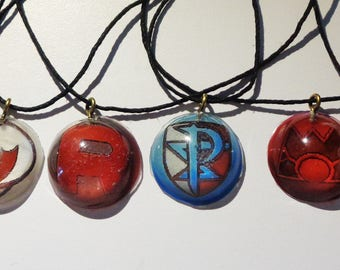 Pokemon Enemy Team Necklaces