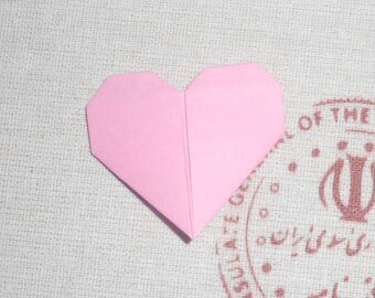 Mini heart origami for special message