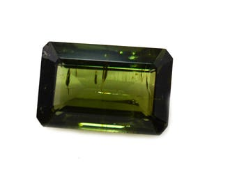 Green Tourmaline Octagon Shape / 8.0 x 12.0 x 5.0 mm / Rare Touramline
