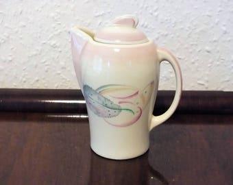 Vintage Susie Cooper Art Deco Grey Leaf Crown Burslem Hot Water Pot