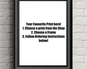 Choose Any Printed Framed Photograph