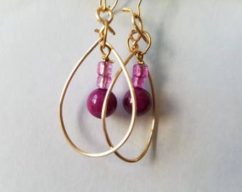 Wire Loop Earring with Bead