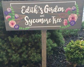 Outdoor Sign, Garden Sign, Outdoor Decor, Wood Outdoor Sign, Memorial Sign, Gardening Gift, Personalized Garden Art, Gardener Gift, Custom
