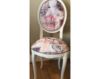 French 'Pin Up Girl' Bedroom Chair