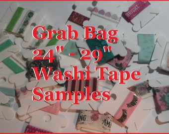 "Washi Tape Grab Bag 24"" to 29"" samples"