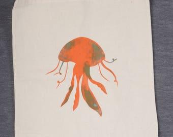 Screen Printed Jellyfish Tote Bag
