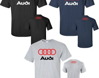 audi t shirt etsy. Black Bedroom Furniture Sets. Home Design Ideas