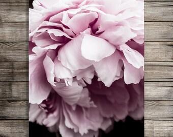 Pink Peony Print, Printable Peony Art Print, Flower Photography, Bedroom Wall Art, Living Room Wall Art, Photography Download, Office Art