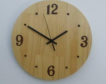 Clock Hand Painted Pine