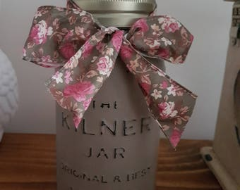 Glass Mason Jar Shabby Chic Vintage