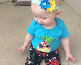 Custom 2-Flowered Headband