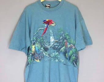 Vintage Parrot T Shirt Size XL