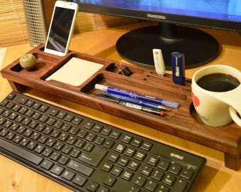 Wood desk organizer -  Anniversary Gifts for him, Boyfriend Gift, Friend Gift, Gift for him, Gift for men