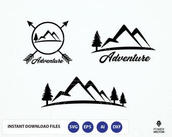 Mountain svg, Decal svg, Mountain svg, Adventure svg, Mountain decal, Camping svg, Mountain cricut, Mountain Adventure svg, dxf cut files