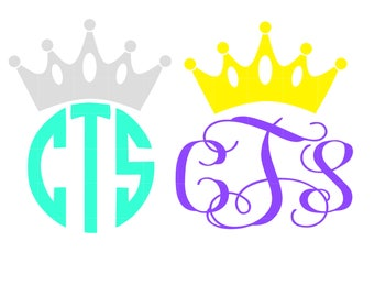 Monogram Crown Decal