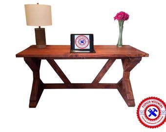 Rustic Farmhouse Style X Desk | Computer Desk