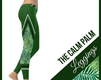 The Calm Palm Low Rise Leggings