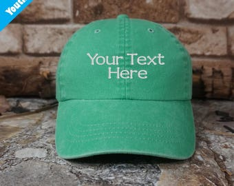 Customized Youth Casual Washed Cotton Twill Cap