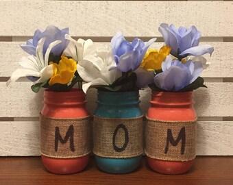 Set Of 3 Pint Size Mother's Day Mason Jars