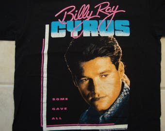 Vintage 90's Billy Ray Cyrus Singer Some Gave All Achy Breaky Heart 1992 Concert Tour Fan T Shirt Size M