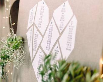 Wedding table plan (heart, 3)