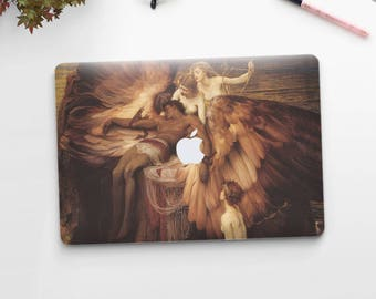 "Herbert James Draper, ""The Lament for Icarus"". Macbook Pro 15 decal, Macbook Pro 13 decal, Macbook 12 decal. Macbook Air decal."