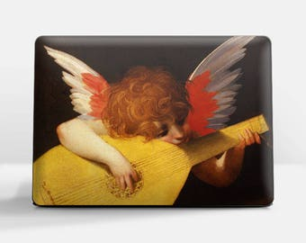 """Laptop skin (Custom size). Rosso Fiorentino, """"Musical Angel"""". Laptop cover, HP, Lenovo, Dell, Sony, Asus, Samsung etc."""