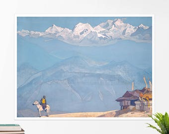 "Nicolas Roerich, ""Remember"". Art poster, art print, rolled canvas, art canvas, wall art, wall decor"