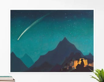 "Nicholas Roerich, ""Star of a Hero"". Art poster, art print, rolled canvas, art canvas, wall art, wall decor"