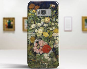 "Vincent Van Gogh ""Bouquet of Flowers in a Vase"" Samsung Galaxy S7 Case LG G6 case Huawei P10 Case Galaxy Note 8 Case Art phone cases."