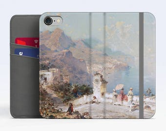 "F. R. Unterberger, ""Surplombant Amalfi"". iPhone 8 Wallet case, iPhone 7 Wallet case  iPhone 6 Plus Wallet case. Samsung Wallet cases."