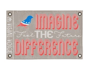 Imagine the Difference Canvas Sign