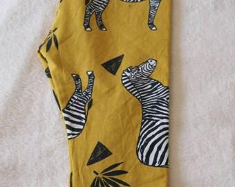 Zebra Mustard Baby Pants