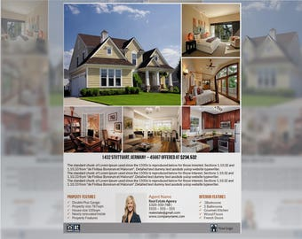 Real Estate Flyer - Editable in Microsoft Powerpoint INSTANT DOWNLOAD