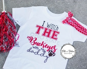 Ohio State Shirt with Glitter