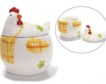 Hen ceramic vessel