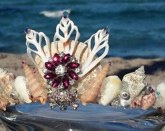 sparkly skull mermaid crown