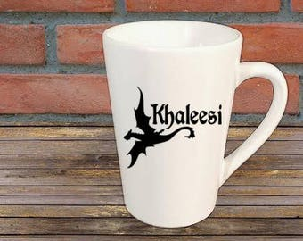 Kahleesi Dragon Game of Thrones Horror Mug Coffee Cup Halloween Gift Home Decor Kitchen Bar Gift for Her Him