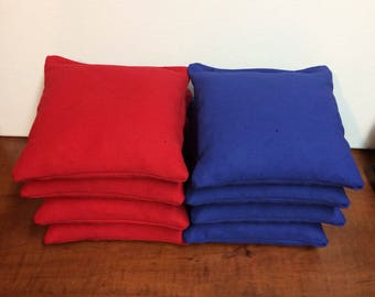 Red and Royal Blue Cornhole bags set