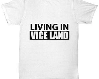 Vice Land Tee Shirt- Cool Tee Shirt Graphic Design